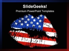 Patriotic Love Americana PowerPoint Template 1010
