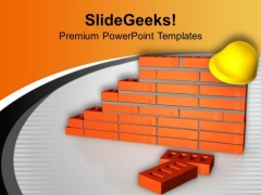 Pay Attention On Construction Site PowerPoint Templates Ppt Backgrounds For Slides 0613