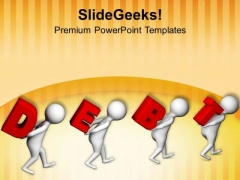Paying Debt Is Important PowerPoint Templates Ppt Backgrounds For Slides 0713