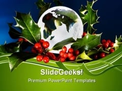 Peace On Earth Christmas Festival PowerPoint Themes And PowerPoint Slides 0611