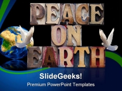 Peace On Earth Globe PowerPoint Backgrounds And Templates 0111