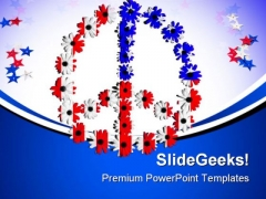 Peace Symbol Americana PowerPoint Themes And PowerPoint Slides 0811