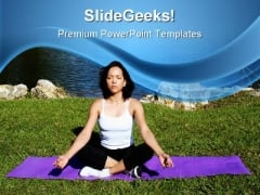 Peace Yoga Health PowerPoint Templates And PowerPoint Backgrounds 0611