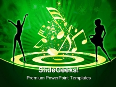 People Celebrating Music PowerPoint Themes And PowerPoint Slides 0311