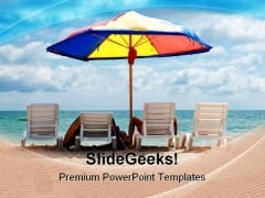 People Enjoying Vacation Beach PowerPoint Templates And PowerPoint Backgrounds 0311