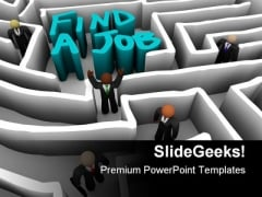 People Find A Job Competition PowerPoint Templates And PowerPoint Backgrounds 0411