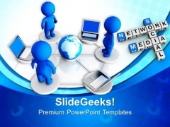 People Networking Communication PowerPoint Templates And PowerPoint Themes 0712