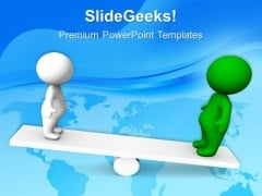 People On Seesaw Business PowerPoint Templates And PowerPoint Themes 0712