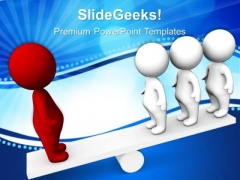 People On Seesaw Teamwork PowerPoint Templates And PowerPoint Themes 0612