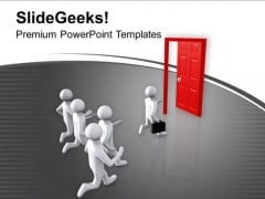 People Running Towards Opportunity PowerPoint Templates Ppt Backgrounds For Slides 0713