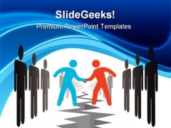 People Settle Agreement Business PowerPoint Themes And PowerPoint Slides 0311