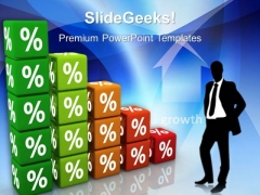 Percent Graph Marketing PowerPoint Templates And PowerPoint Themes 0512