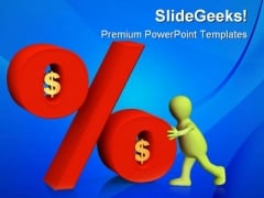 Percent In Dollars Money PowerPoint Themes And PowerPoint Slides 0411