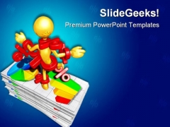 Percentage Success PowerPoint Themes And PowerPoint Slides 0611