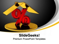 Percentage Symbol Finance PowerPoint Templates And PowerPoint Themes 0912