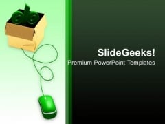 Percentage With Mouse Internet PowerPoint Templates And PowerPoint Themes 1112