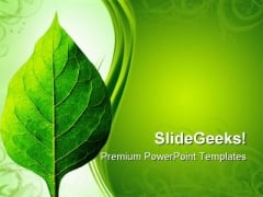Perfect Leaf Nature PowerPoint Templates And PowerPoint Backgrounds 0511