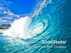 Perfect Wave Beach PowerPoint Templates And PowerPoint Backgrounds 0711