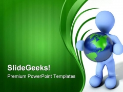 Person Holding Earth Global PowerPoint Themes And PowerPoint Slides 0411