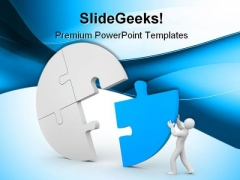 Person Join The Last Puzzle Business PowerPoint Themes And PowerPoint Slides 0411
