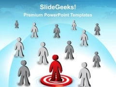 Person On Target Leadership PowerPoint Templates And PowerPoint Themes 0212