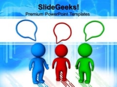 Person Talking Meeting Business PowerPoint Templates And PowerPoint Themes 0612