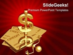 Person Under Credit Finance PowerPoint Templates And PowerPoint Backgrounds 0511