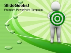 Person With A Target Marketing PowerPoint Templates Ppt Backgrounds For Slides 0413
