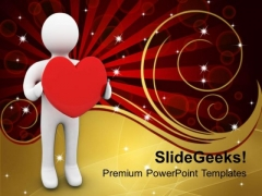 Person With Love Symbol PowerPoint Templates Ppt Backgrounds For Slides 0213
