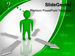 Person With Question Arrows PowerPoint Templates And PowerPoint Themes 0612