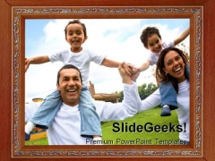 Photo Frame Family PowerPoint Templates And PowerPoint Backgrounds 0811