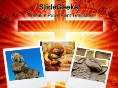Photo Frame Religion PowerPoint Template 0610