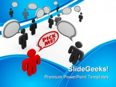 Pick Me Leadership PowerPoint Themes And PowerPoint Slides 0911
