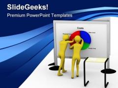 Pie Chart Business PowerPoint Template 0810