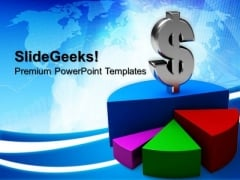 Pie Chart Graph Dollar Finance PowerPoint Templates And PowerPoint Themes 0812