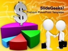 Pie Chart Graph Dollar Marketing PowerPoint Templates And PowerPoint Themes 0812
