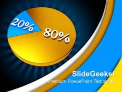 Pie Chart Percent Business PowerPoint Templates And PowerPoint Themes 0912