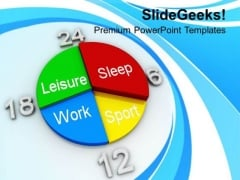 Pie Chart With Weekly Schedule PowerPoint Templates Ppt Backgrounds For Slides 0513