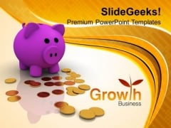 Piggy Bank Business Growth Success PowerPoint Templates Ppt Backgrounds For Slides 0213