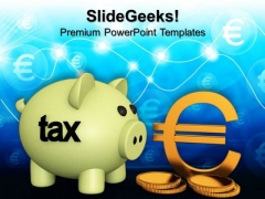 Piggy Bank Concept Growth PowerPoint Templates And PowerPoint Themes 1012