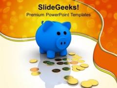 Piggy Bank Dollar Money Savings PowerPoint Templates Ppt Backgrounds For Slides 0213