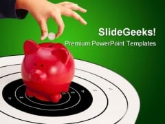 Piggy Bank Future PowerPoint Themes And PowerPoint Slides 0511
