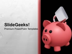 Piggy Bank Locked Secure Money Future PowerPoint Templates Ppt Backgrounds For Slides 0113