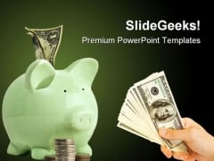 Piggy Bank Saving Future PowerPoint Themes And PowerPoint Slides 0611