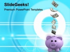 Piggy Bank Savings Finance PowerPoint Templates And PowerPoint Themes 1012