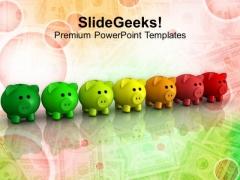 Piggy Bank Teamwork Concept Image PowerPoint Templates Ppt Backgrounds For Slides 0113