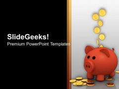 Piggy Bank With Coins Future Planning PowerPoint Templates Ppt Backgrounds For Slides 0313