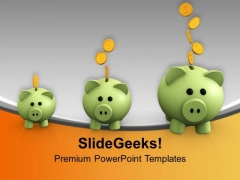 Piggy Banks Increasing PowerPoint Templates Ppt Backgrounds For Slides 0213