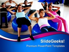 Pilates Class Gym Health PowerPoint Templates And PowerPoint Backgrounds 0811