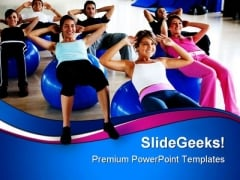 Pilates Class Gym Health PowerPoint Themes And PowerPoint Slides 0811